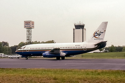 Wizards operated by Pace Airlines, N737AP, Boeing 737-222, msn 19956, Photo by John A Miller, GSO, Image J108LGJM