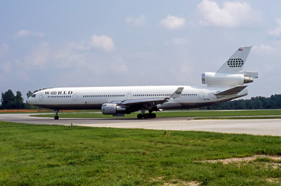 World Airways, N271WA, McDonnell Douglas MD-11, msn 48518, Photo by John A Miller, GSO, Image II05LGJM