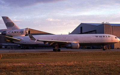 World Airways Cargo, N274WA, McDonnell Douglas MD-11, msn 48633, Photo by John A Miller, GSO, Image II08RGJM