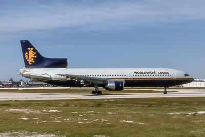 Worldways Canada, C-FCXJ, L-1011-385-1 TriStar, msn 193-1102, Photo by Nigel Chalcraft, Image Q017RGNC