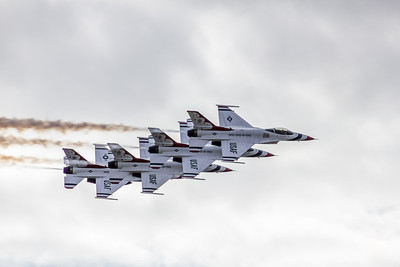 Four US Thunderbirds in Line