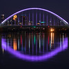 Lowry Bridge Reflects with Purple