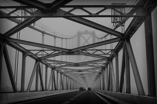 Fog on the Chesapeake Bay Bridge
