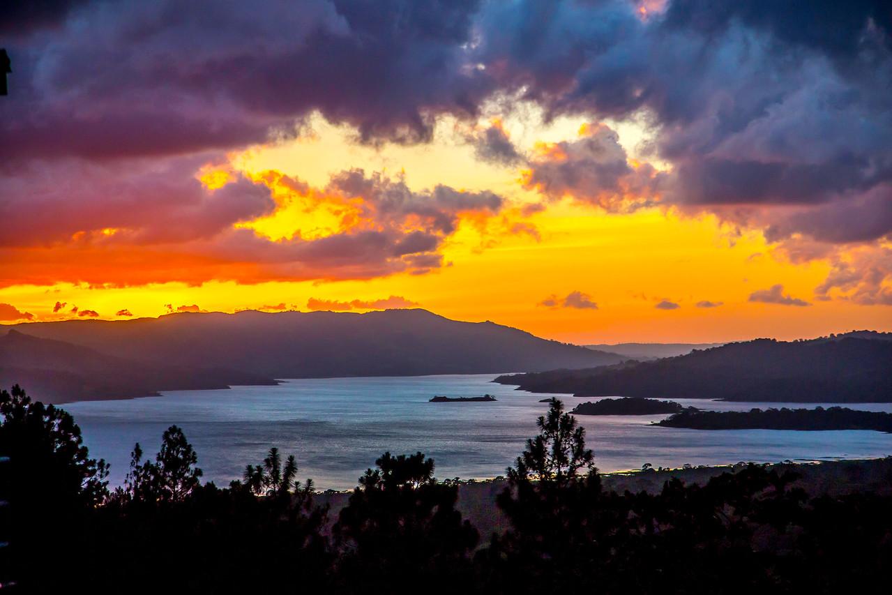 Sunset at Arenal Lake
