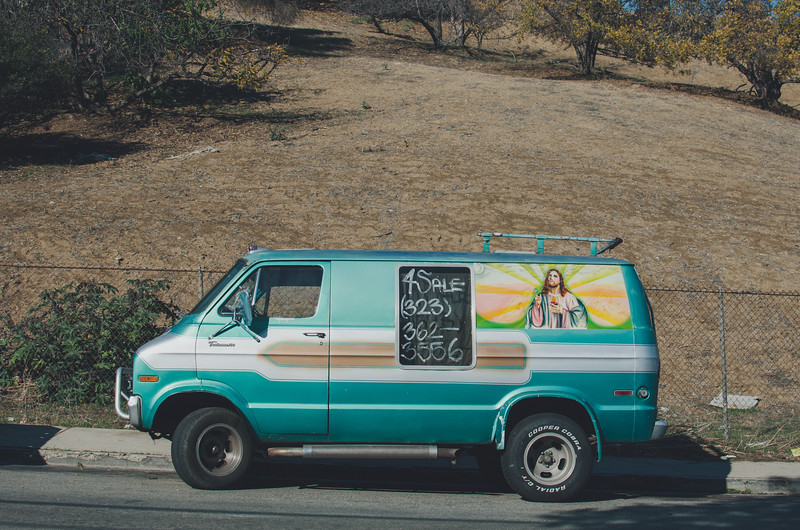 Jesus van for sale, Los Angeles.