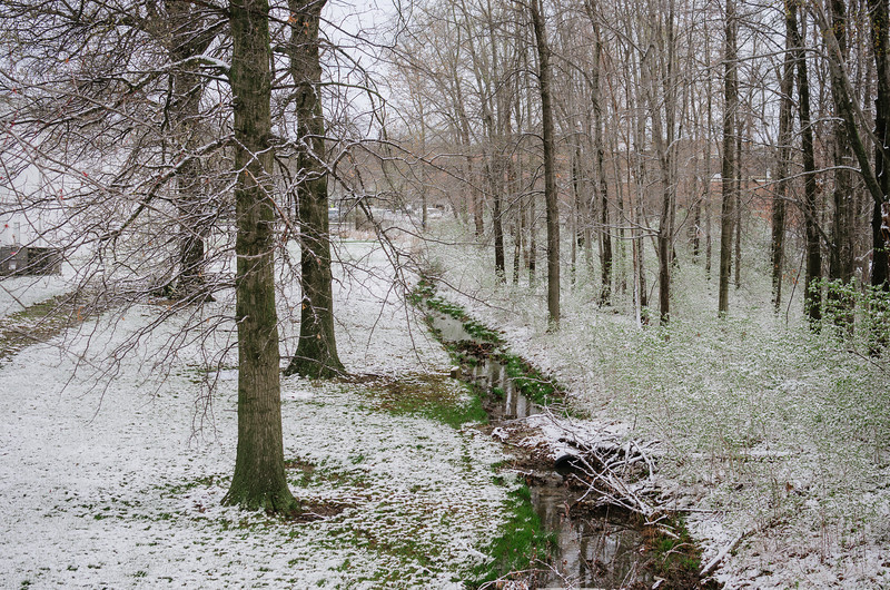 Creek after a snow, Blue Ash, Ohio.