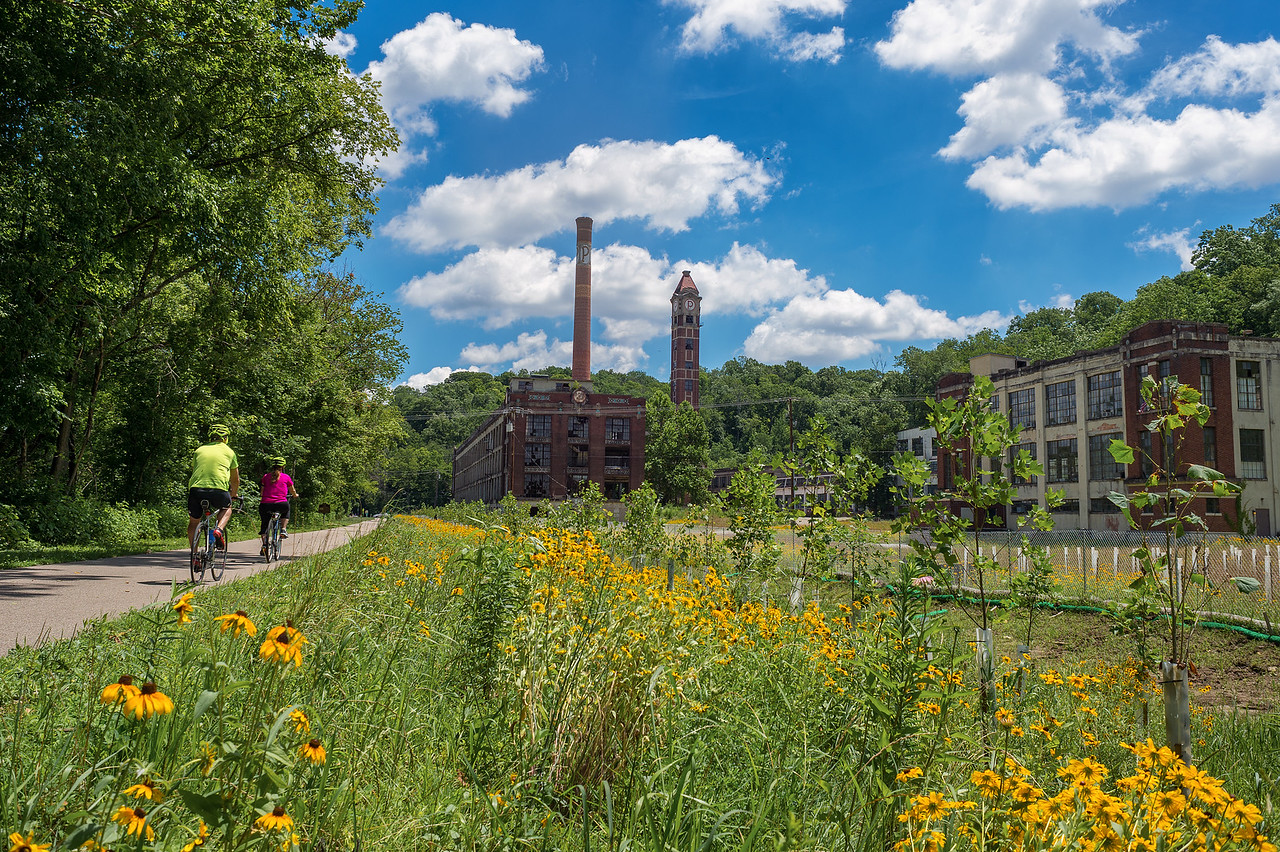 Little Miami River Scenic Bike Trail & Peters Cartridge Co. remains