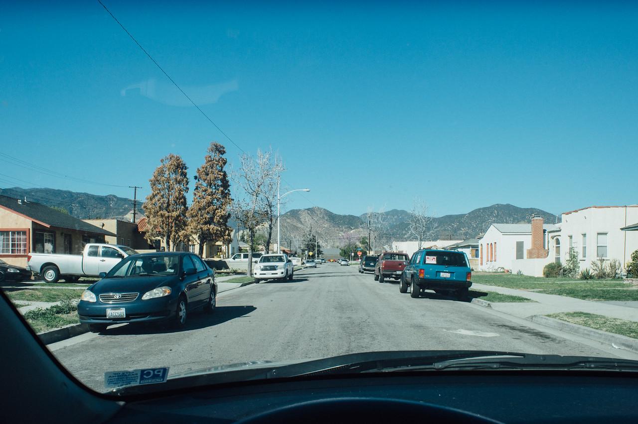 Homes near downtown Azusa.