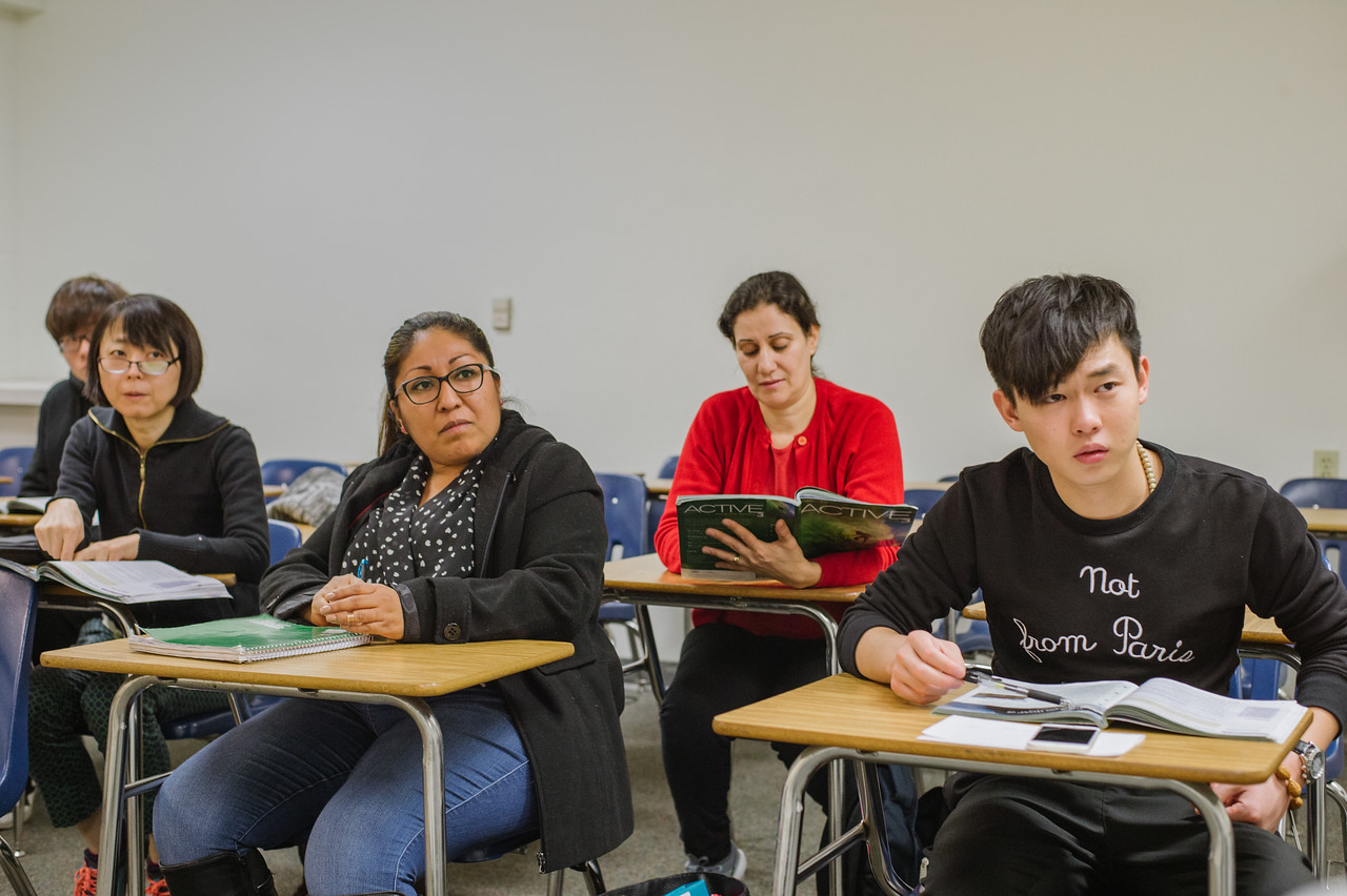 An English as a second language class at Citrus College in Azusa. The College will be a short walk from the APU/Citrus College Station.