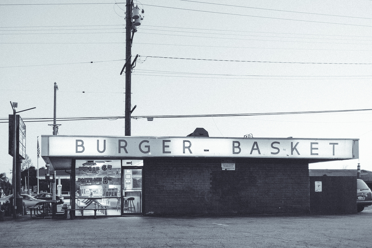 The Burger Basket in Monrovia has been around since 1963 at the corner of Duarte Road and Mayflower. Very old school!