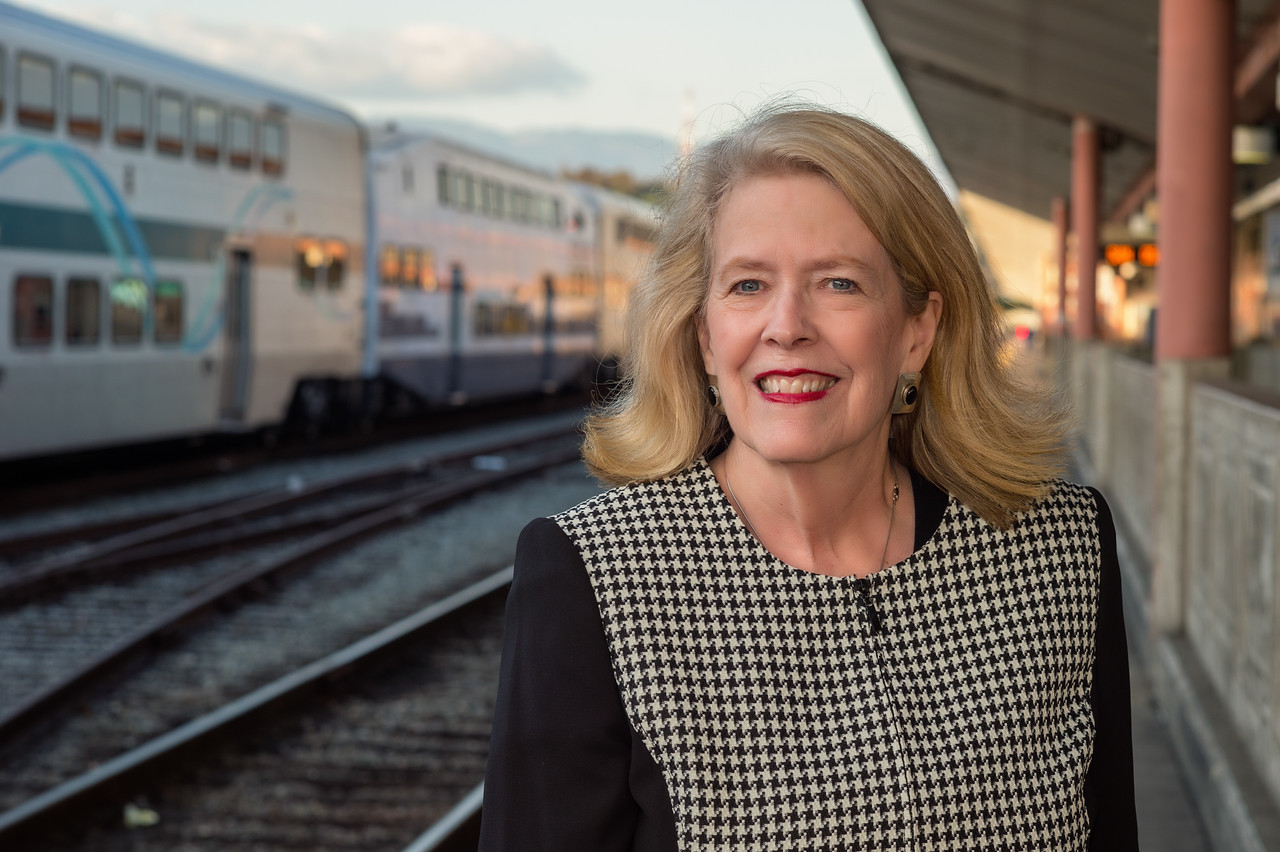 Cristy Passman lives in Glendora and currently takes Metrolink from Covina to reach her DTLA job. She's looking forward to having the Gold Line from Azusa as a new and more frequent transit option.