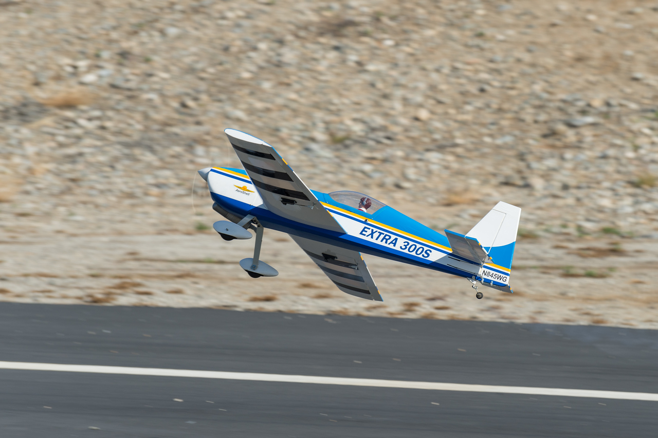Radio-control planes at the Santa Fe Dam RC Modelers airfield in Irwindale.