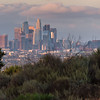 Downtown Los Angeles skyline after a storm