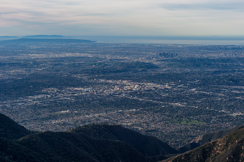 Downtown Los Angeles skyline from Mt. Wilson