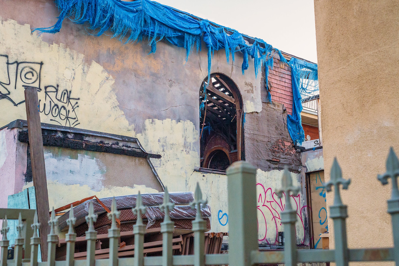Shuttered church Washington Boulevard & Trinity Avenue.