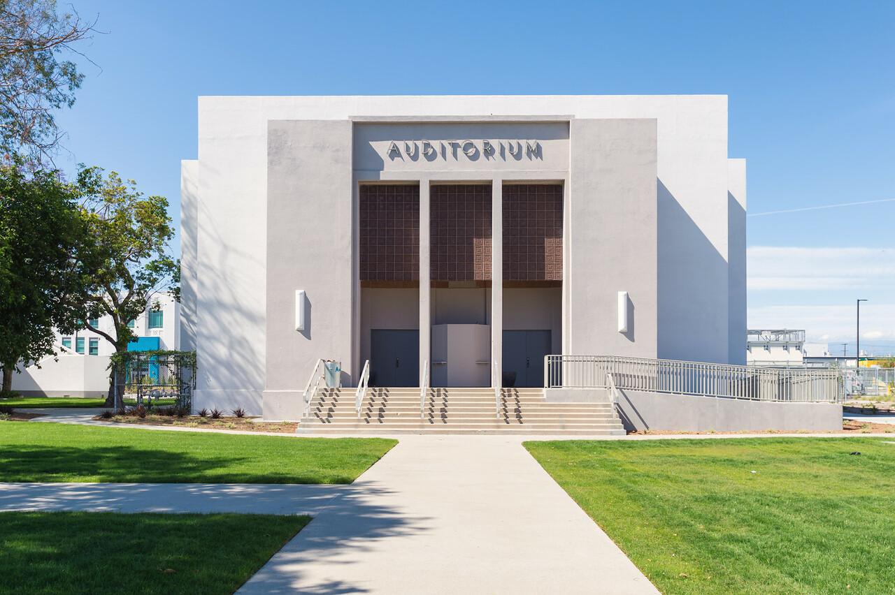 Auditorium at Jordan High School in Watts.