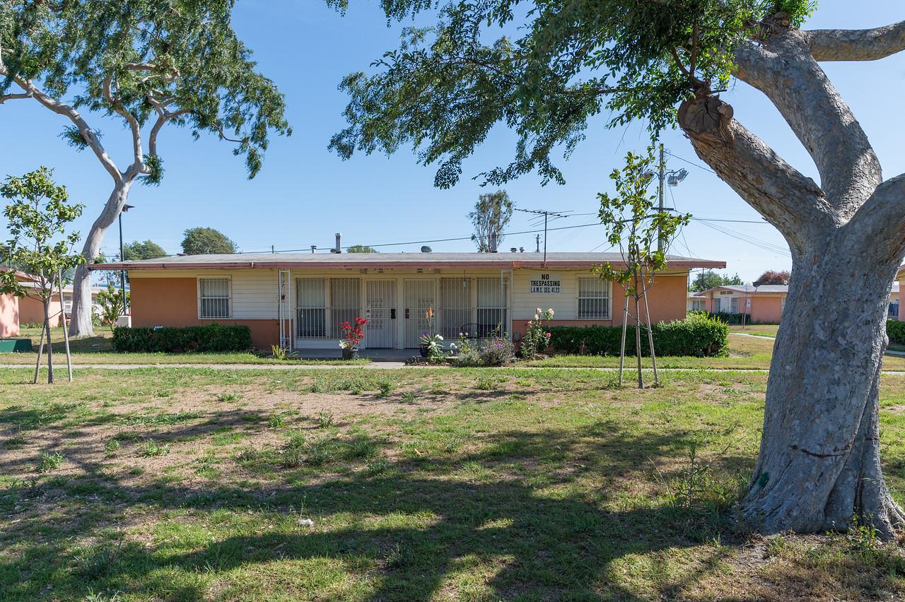 Gonzaque Village public housing in Watts.