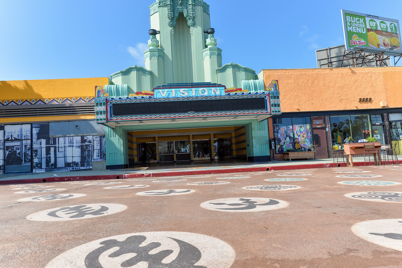 The old Vision Theater in Leimert Park Village.