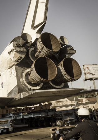 Space Shuttle Endeavour's engines.