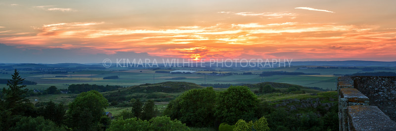 Sunset from the top of Hume Castle