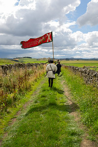 Procession from Hume Castle to the old Kirkyard