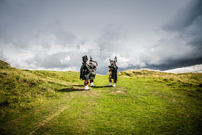Pipers at Hume Castle