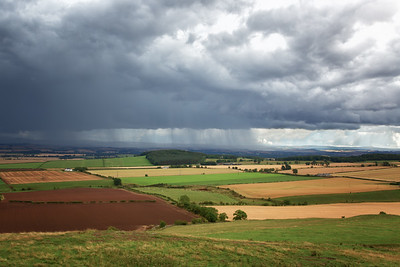 Storm approaching Hume Castle