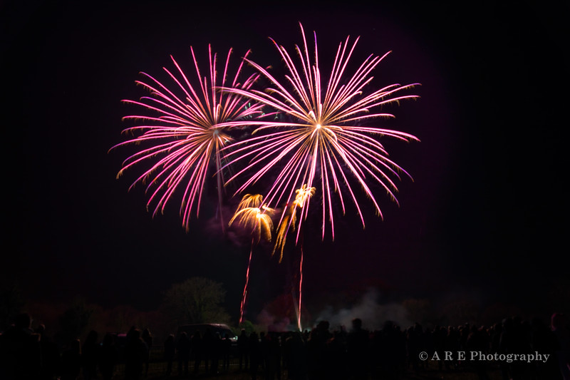 New Year's Eve firework display on The Green