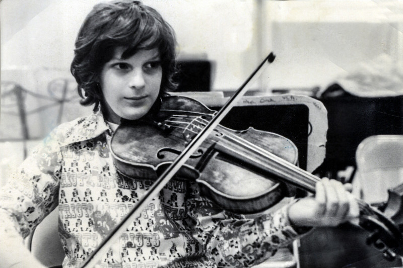 A very young Evan N. Wilson when he first took up the viola...