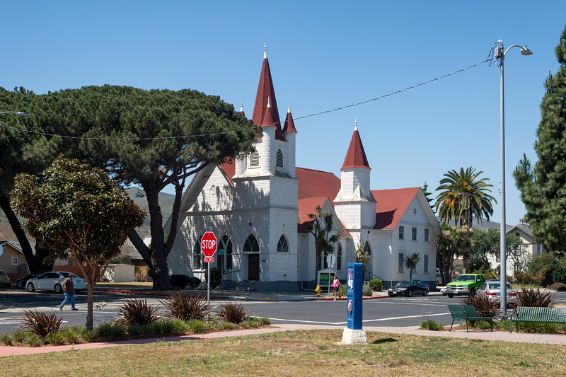 Old church, downtown Lompoc, California