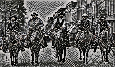 Jesse James gang rides again (Russellville, Kentucky)