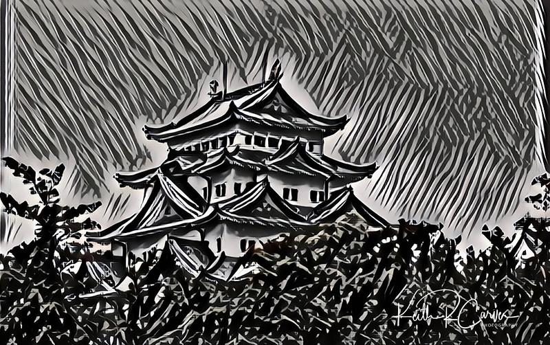 Nagoya Castle, Japan (photographed in 1970)