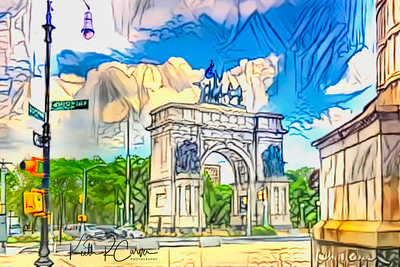 Soldiers and Sailors Arch at Grand Army Plaza, Brooklyn, NY
