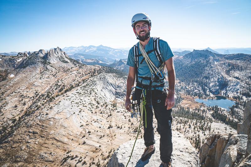 Dan on the summit of Cathedral Peak