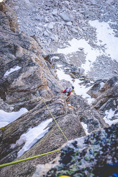 Clayton climbing up Blacksmith Peak