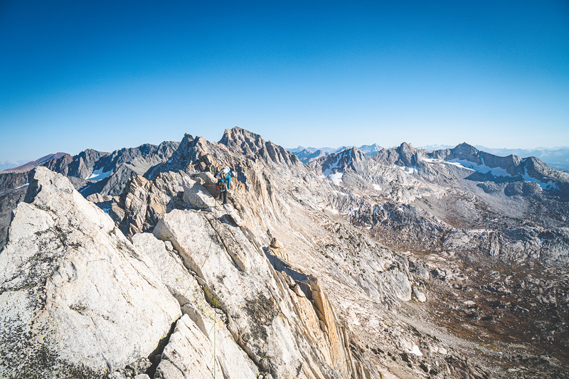 Dan making his way across the Sawtooth Traverse.