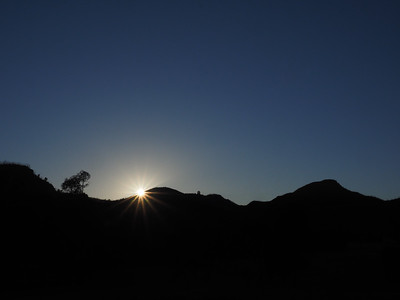 sunrise over the Warrumbungles