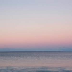 sunset at the sea - minimal