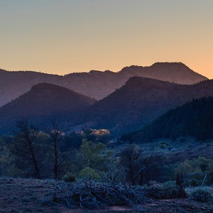 Heysen range in last light