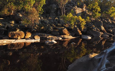 sunrise at the rock pool