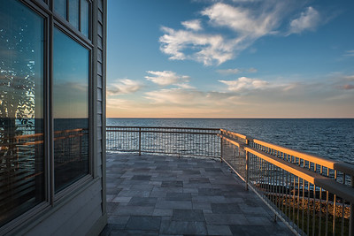 IMAGES OF FOX HARB'R RESORT  PICTURED: Sunset looking out to the ocean from the home of Ron Joyce