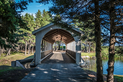 IMAGES OF FOX HARB'R RESORT  PICTURED: golf course covered bridge