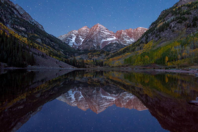 Maroon Bells Under the Stars