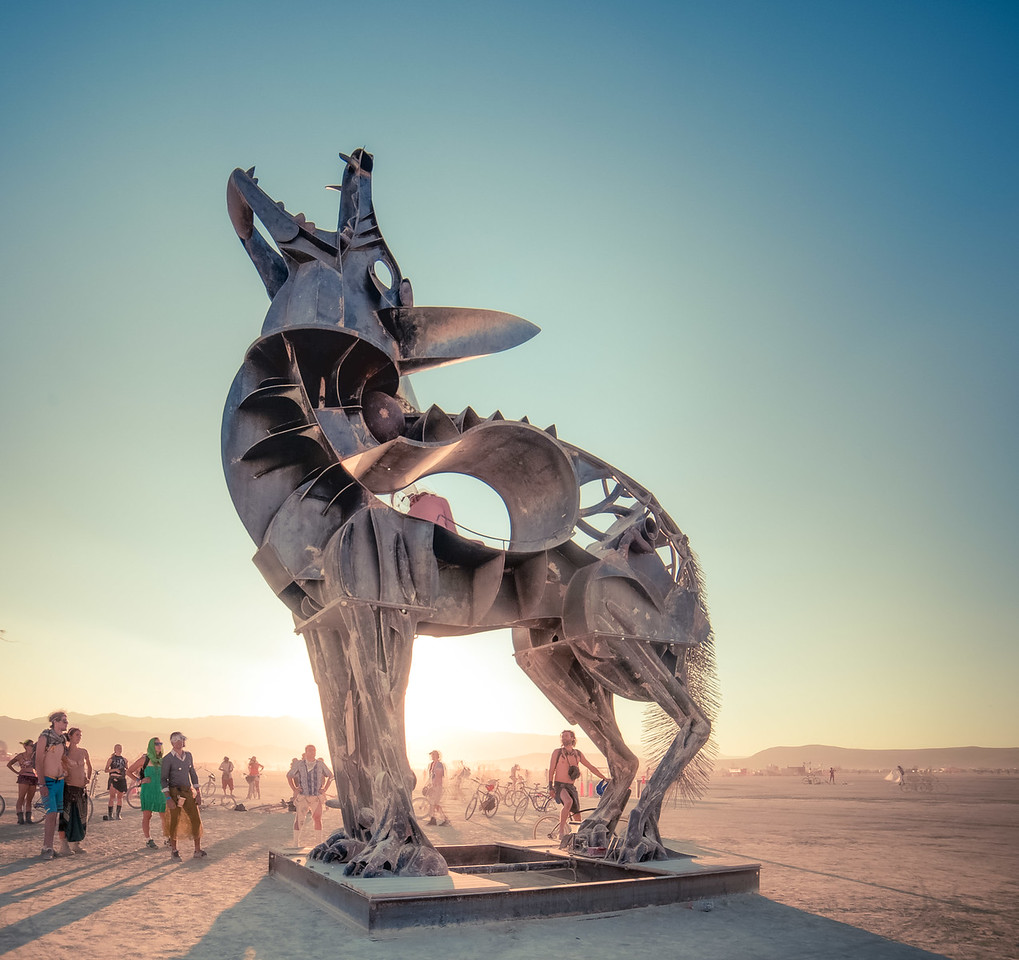 Burning Man 2013 - Wolf