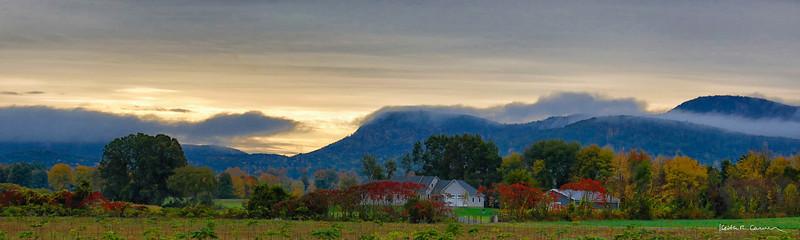 Hadley farm scene, Holyoke Range, fall colors