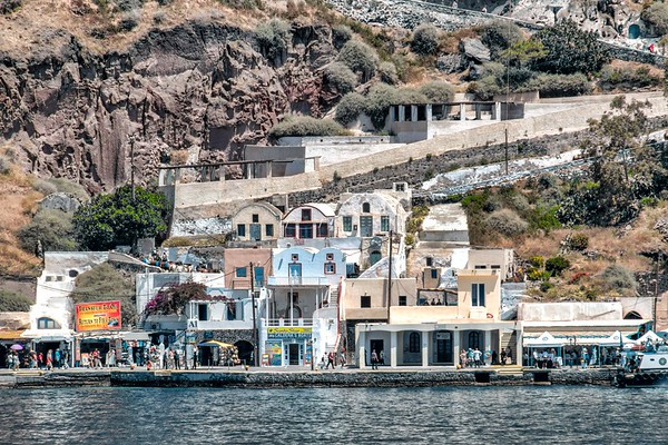 Old Port at Santorini
