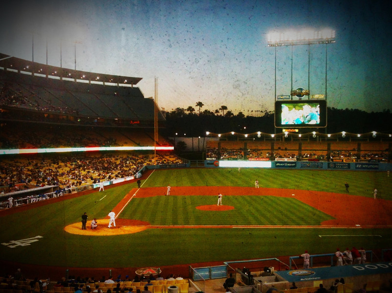 Dodger Stadium, taken with the new Camera Awesome app for the iPhone.