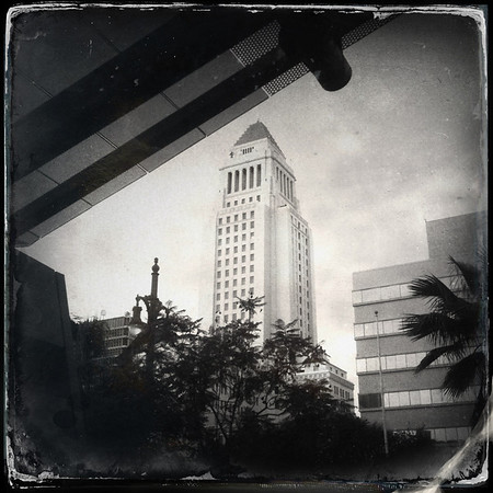 City Hall from Caltrans building's plaza.