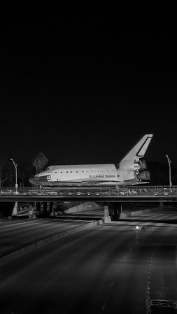 Space shuttle crossing 405 freeway iPhone and smartphone wallpaper.