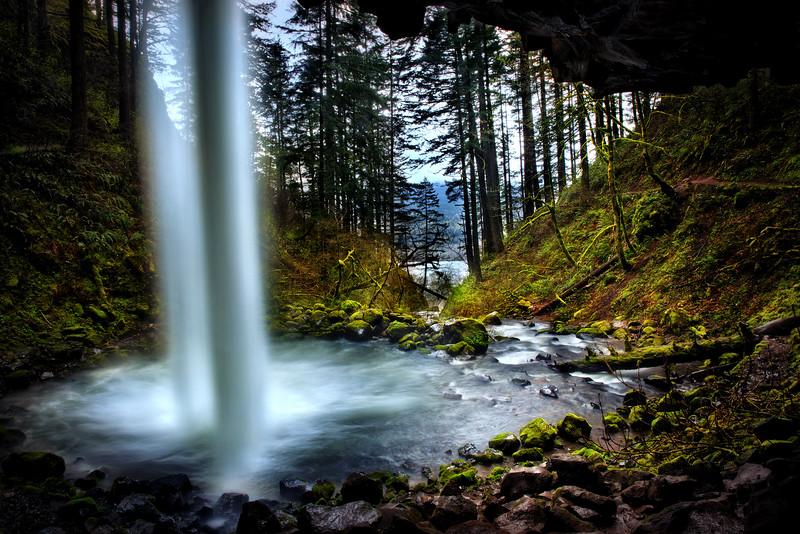 A Horsetail Falls